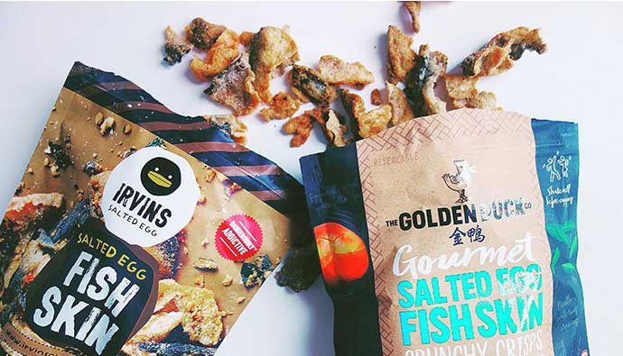 Irvins and The Golden Duck Fish Skins bags