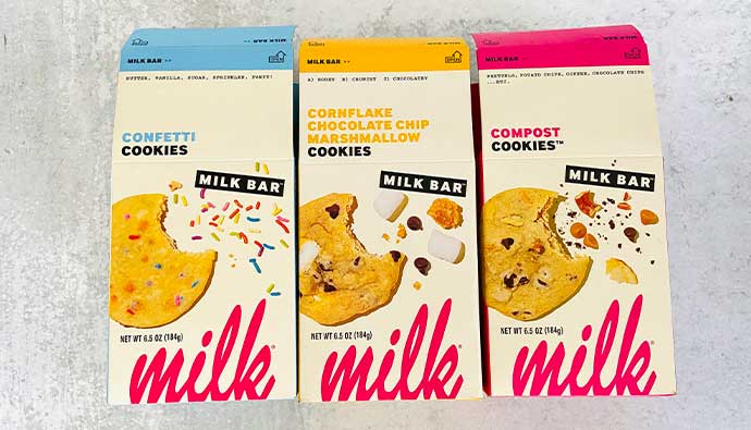 Milk Bar cookie boxes