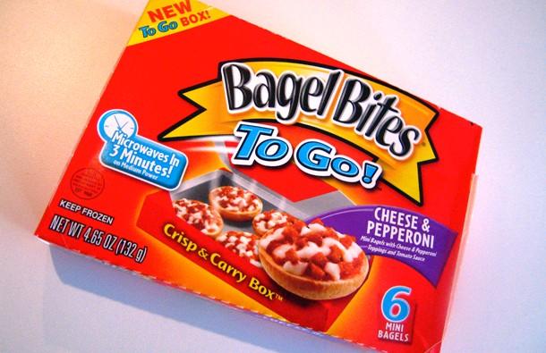 childhood snacks bagel bites