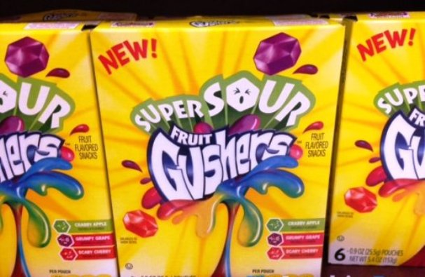 childhood snacks fruit gushers