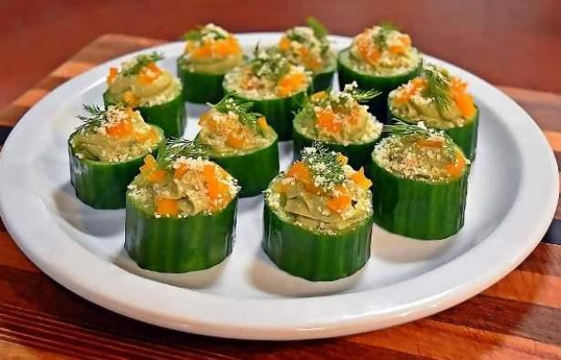quarantine snacks cucumber cups