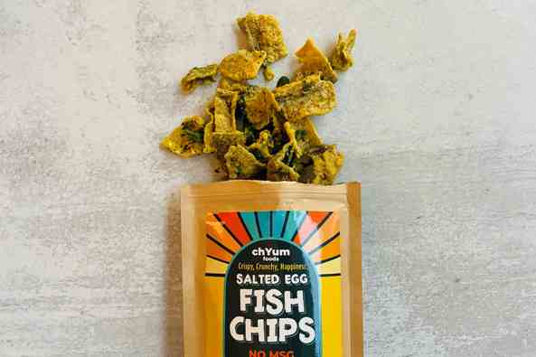 salted egg fish chips opened